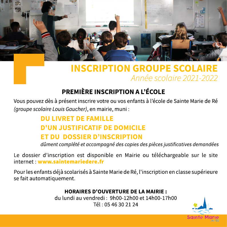 Inscription scolaire 2021 2022 VEC