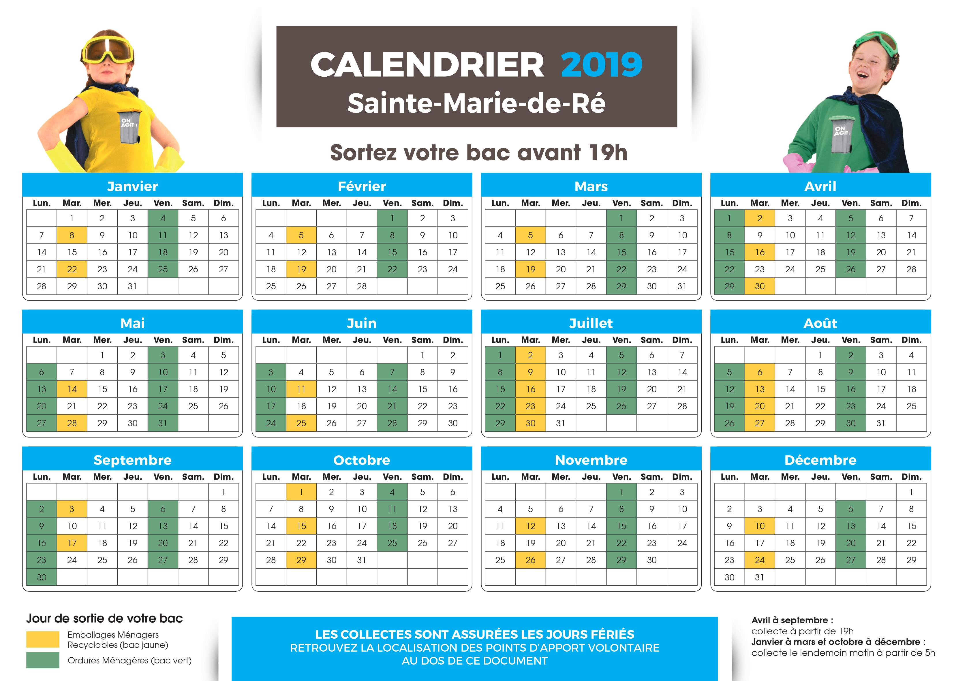 calendriers dechets particuliers ste marie 1